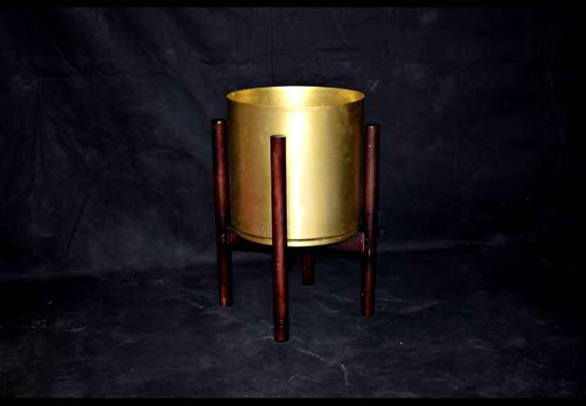 Metallic Brass Indoor Flowering Pot Manufacturer - Kone Crafts